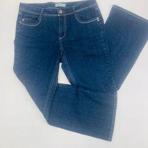 LEI Womens Jeans 13 Blue Sophia Hiphugger Flare